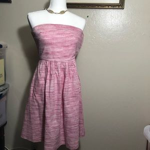 Banana Republic strapless pink/white dress size 2